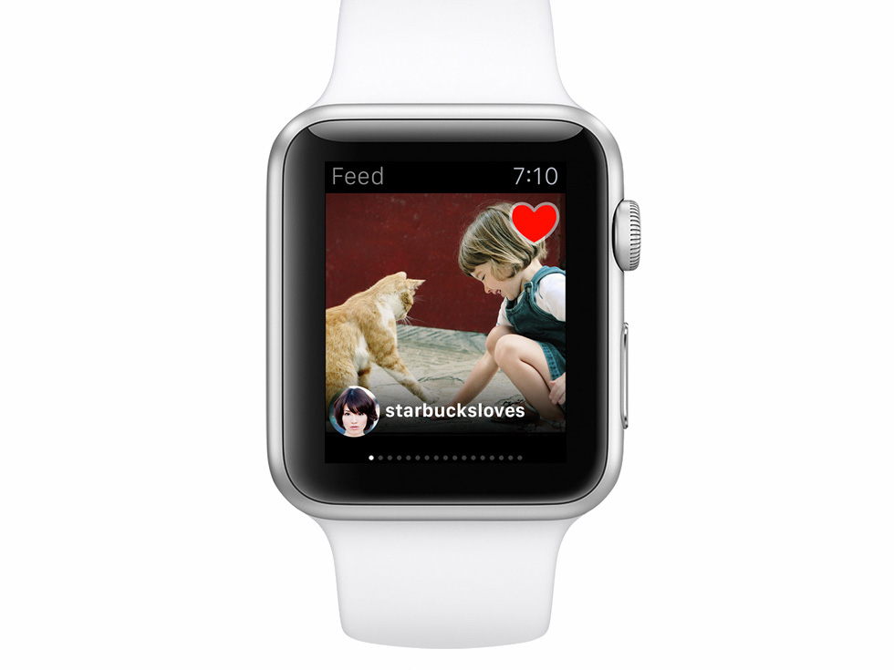 Instagram on smartwatch using real data API in Framer
