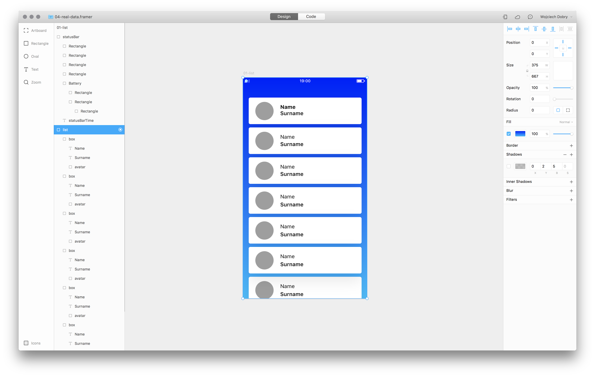 Design mode in Framer