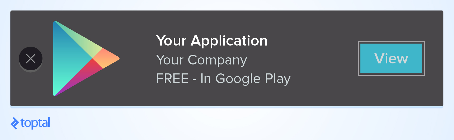 The typical Google Play app banner style.
