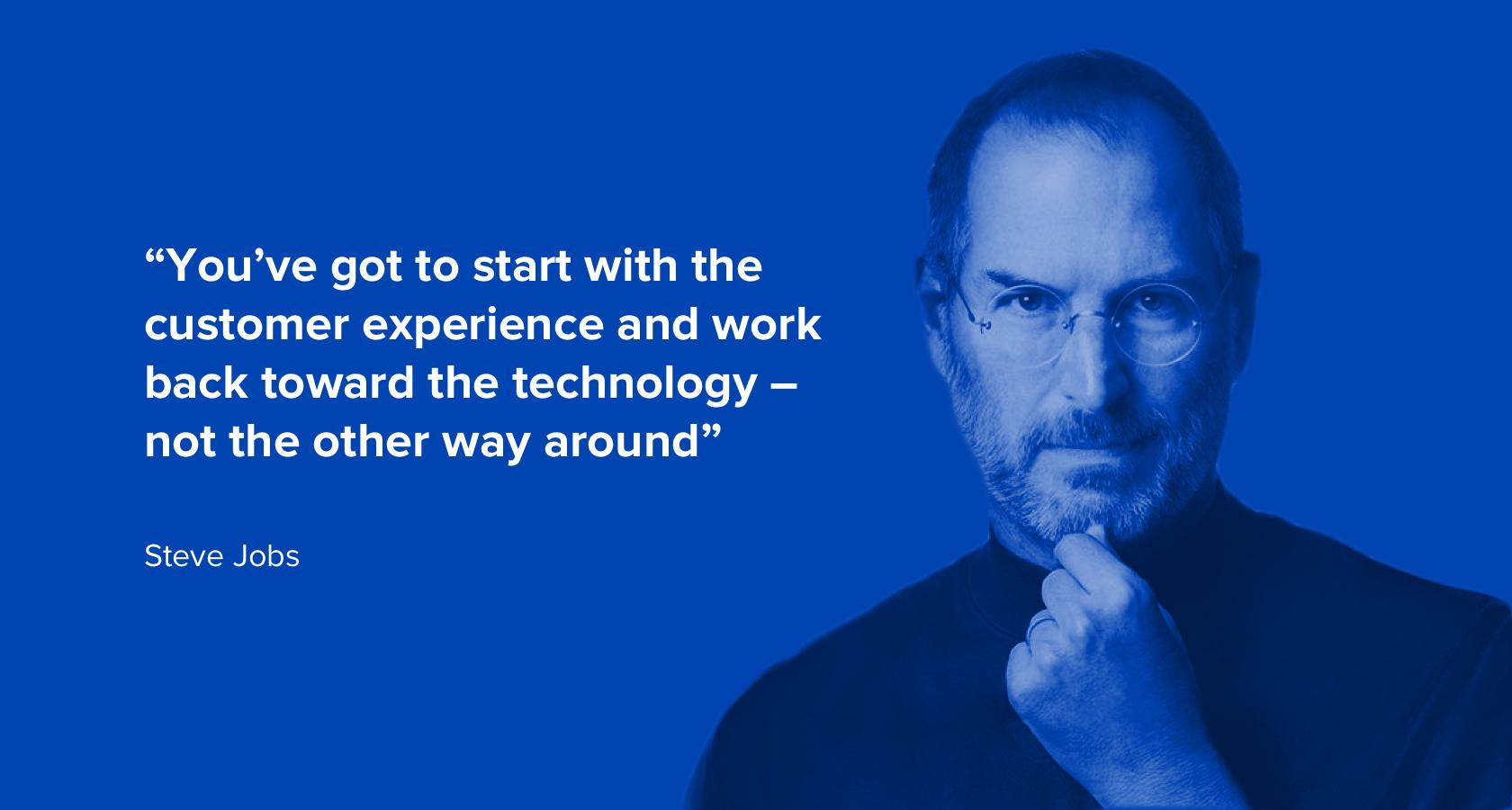 img alt tag: Quote by Steve Jobs on the importance of UX design