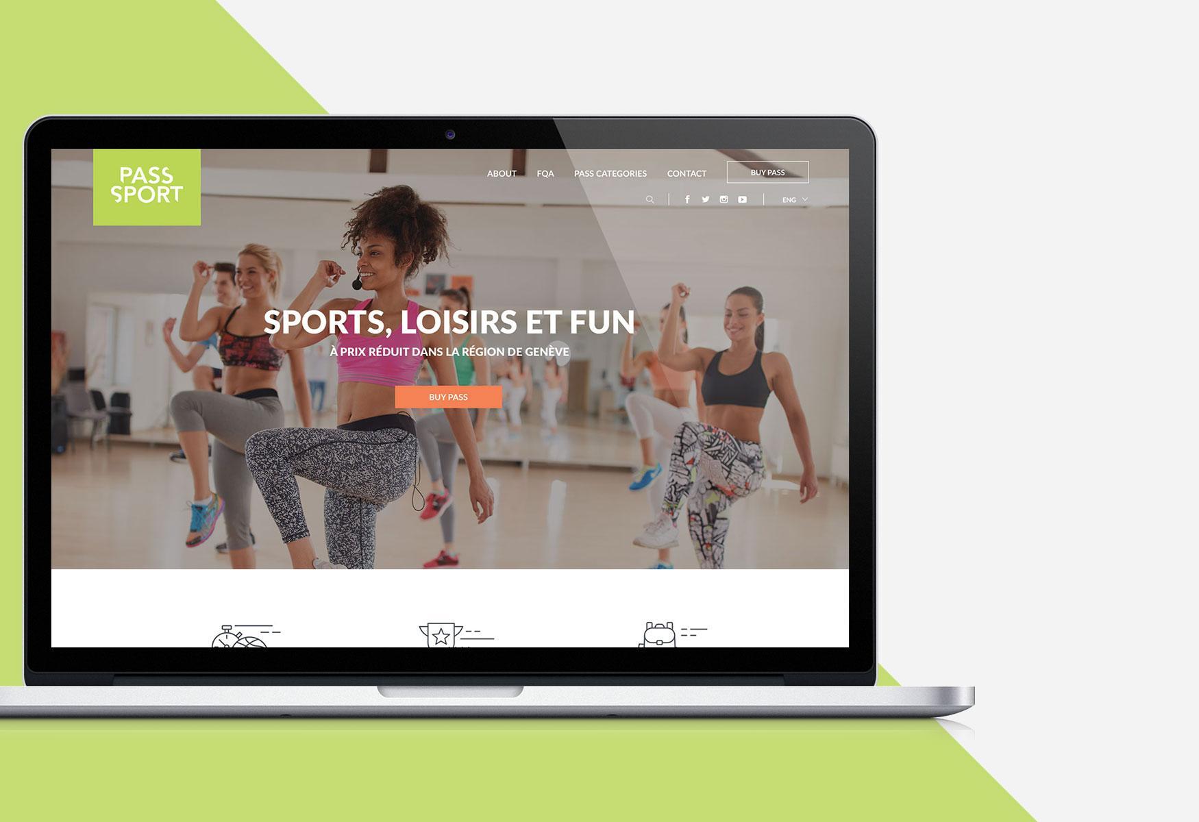 Representación visual de la página de inicio de un sitio web