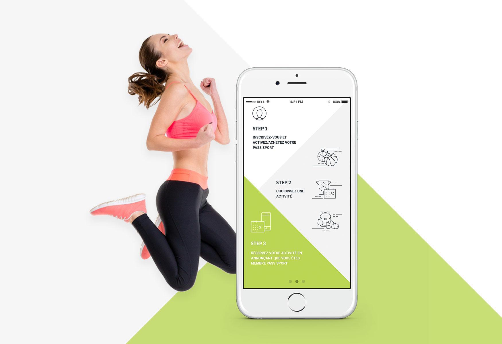 Representación visual de una interfaz de aplicación de iOS