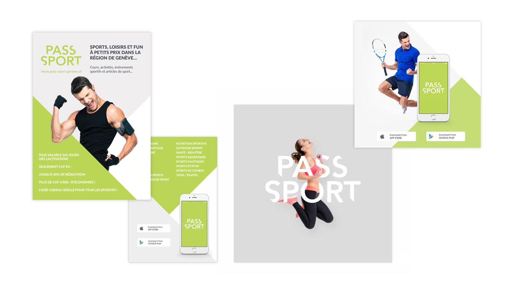 Representación visual de anuncios y gráficos de redes sociales