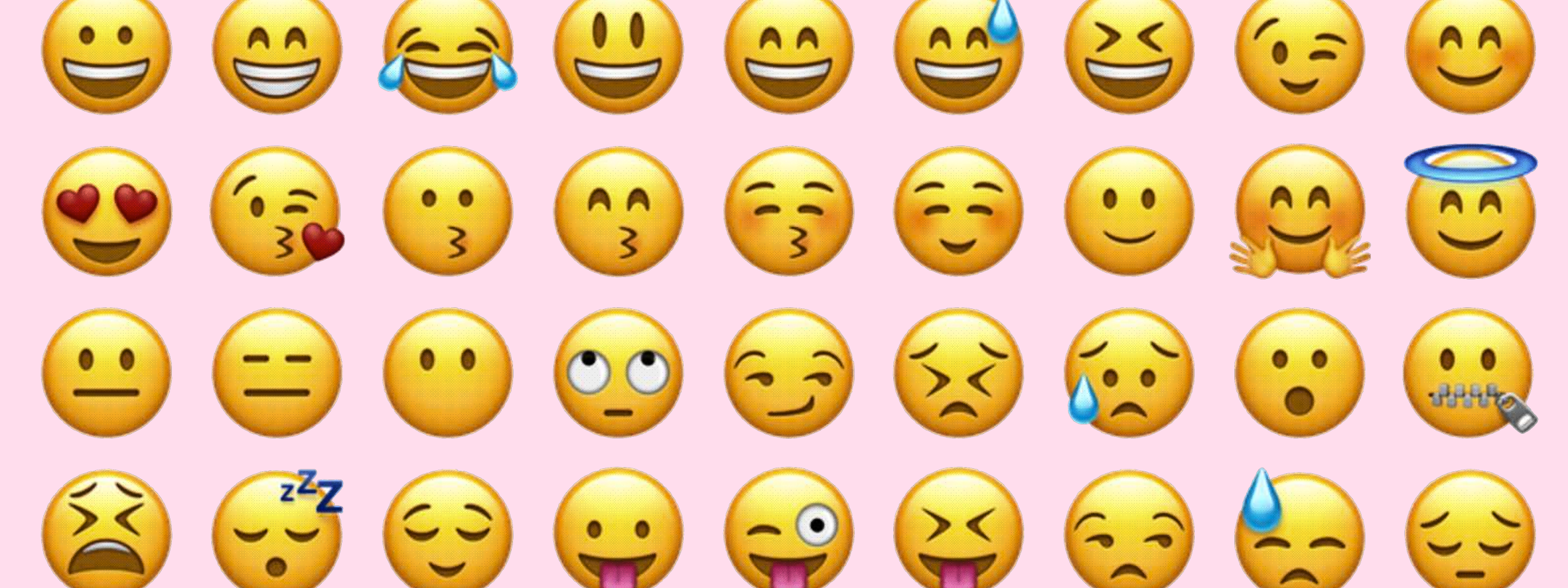 Emojis mimic human faces making up the emoji language