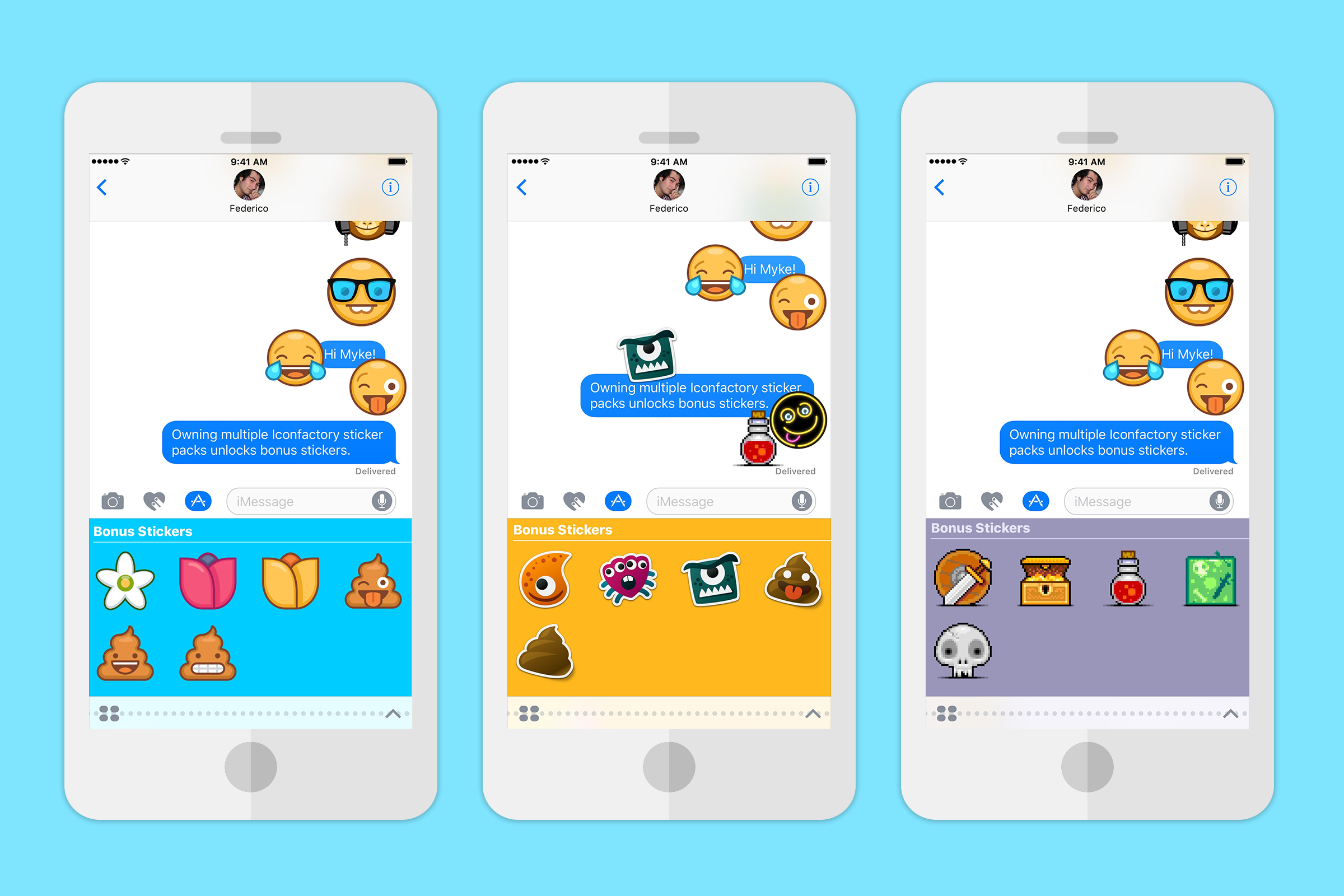 Users can place emoji designs using emoji stickers in messaging apps