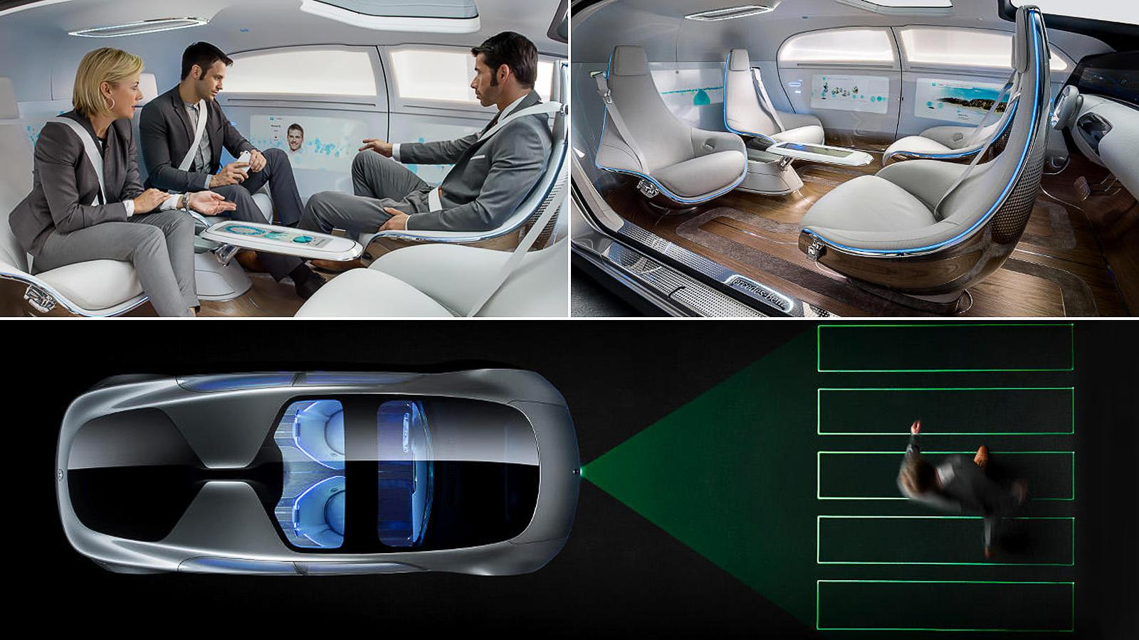 Mercedes-Benz F 015 driverless Luxury car
