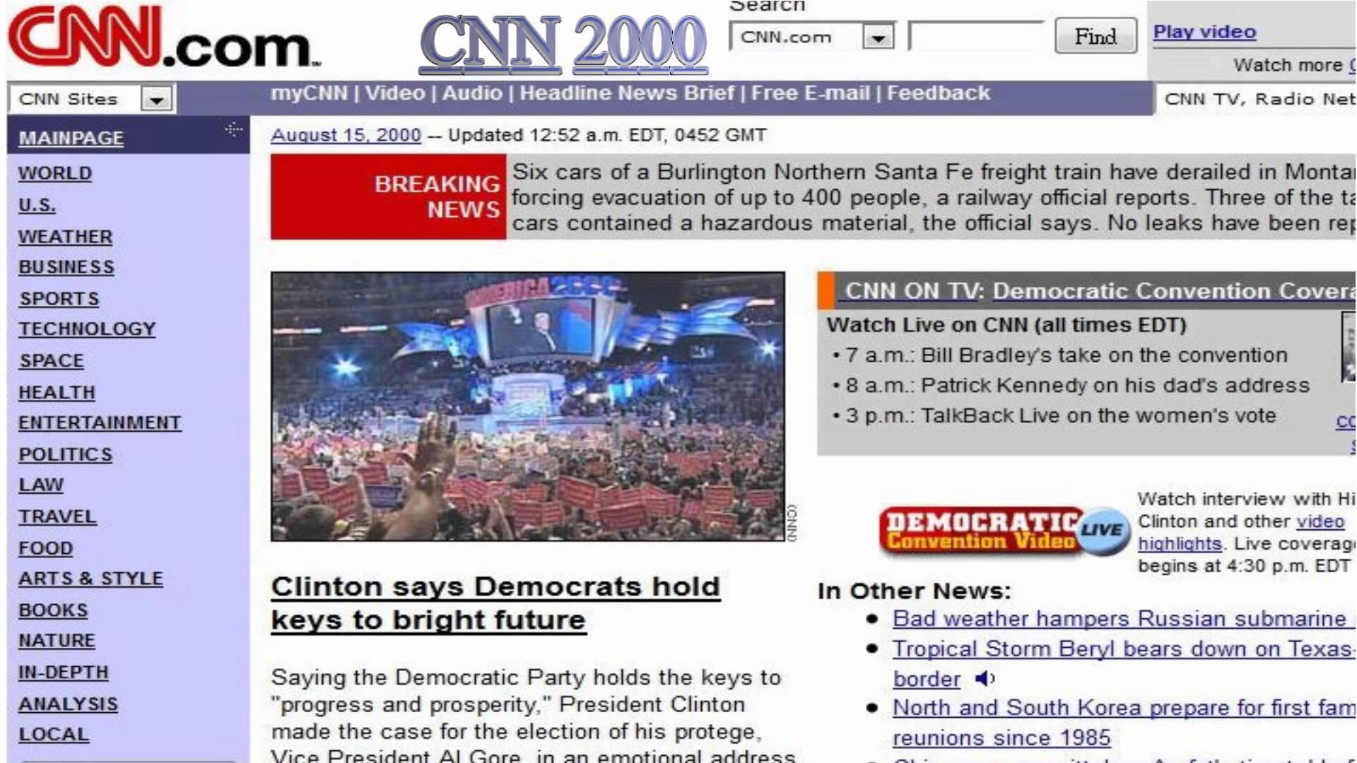 CNN.com website from 2000