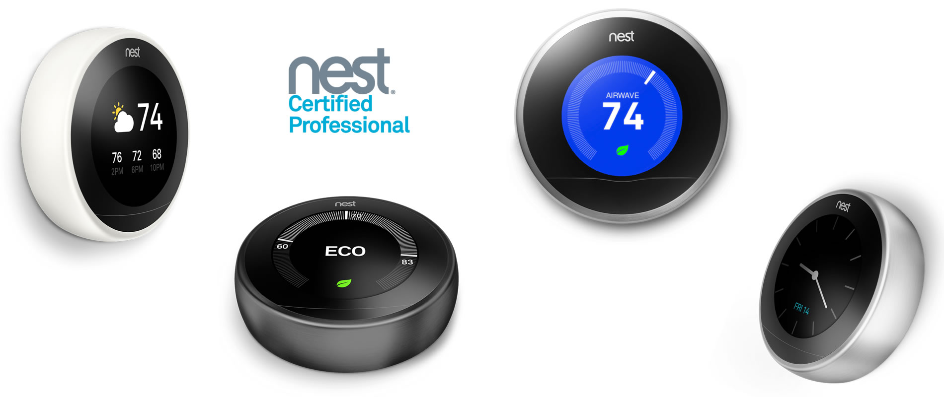 Minimalist design Nest home devices