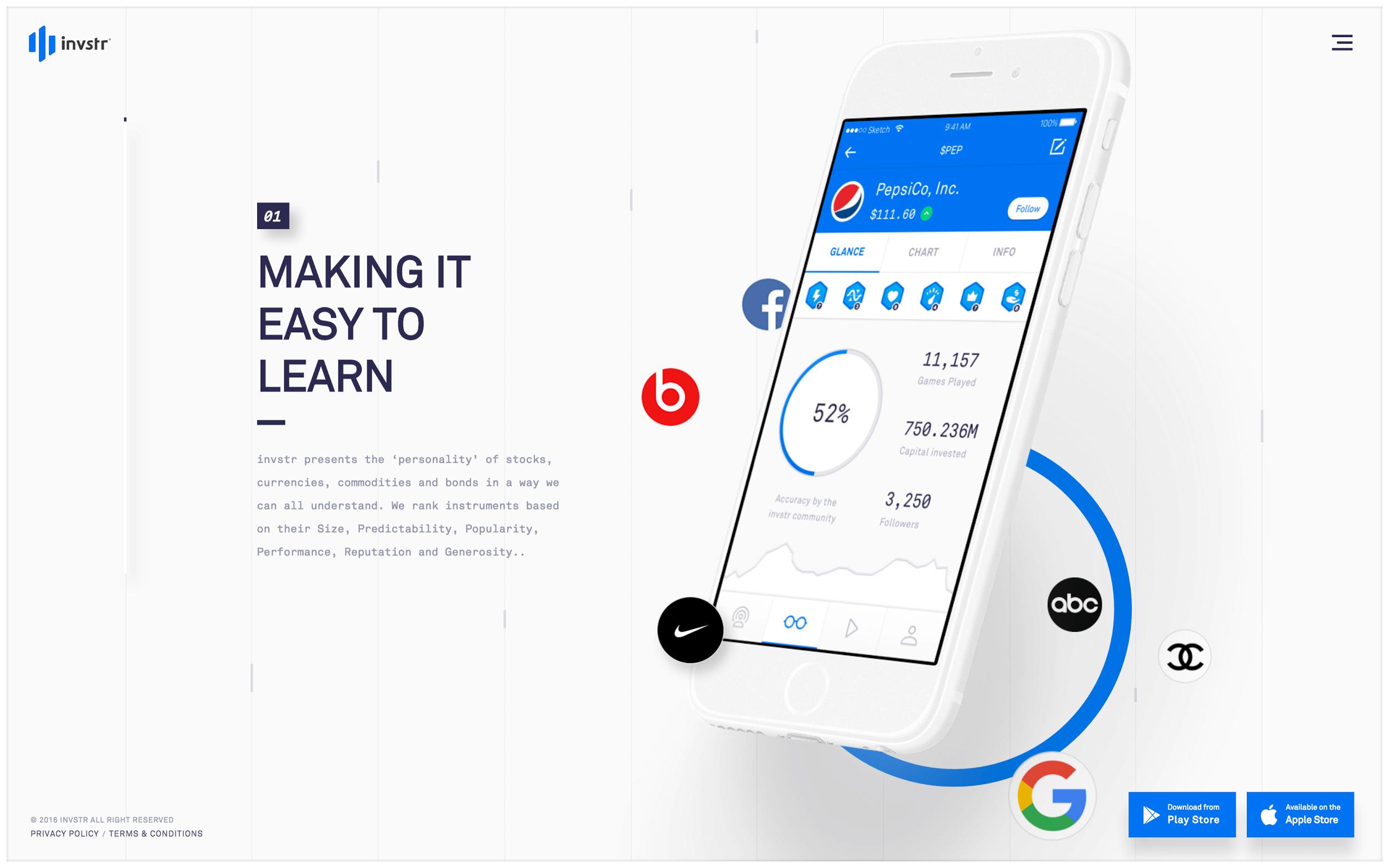 Diseño de aplicación iOS minimalista