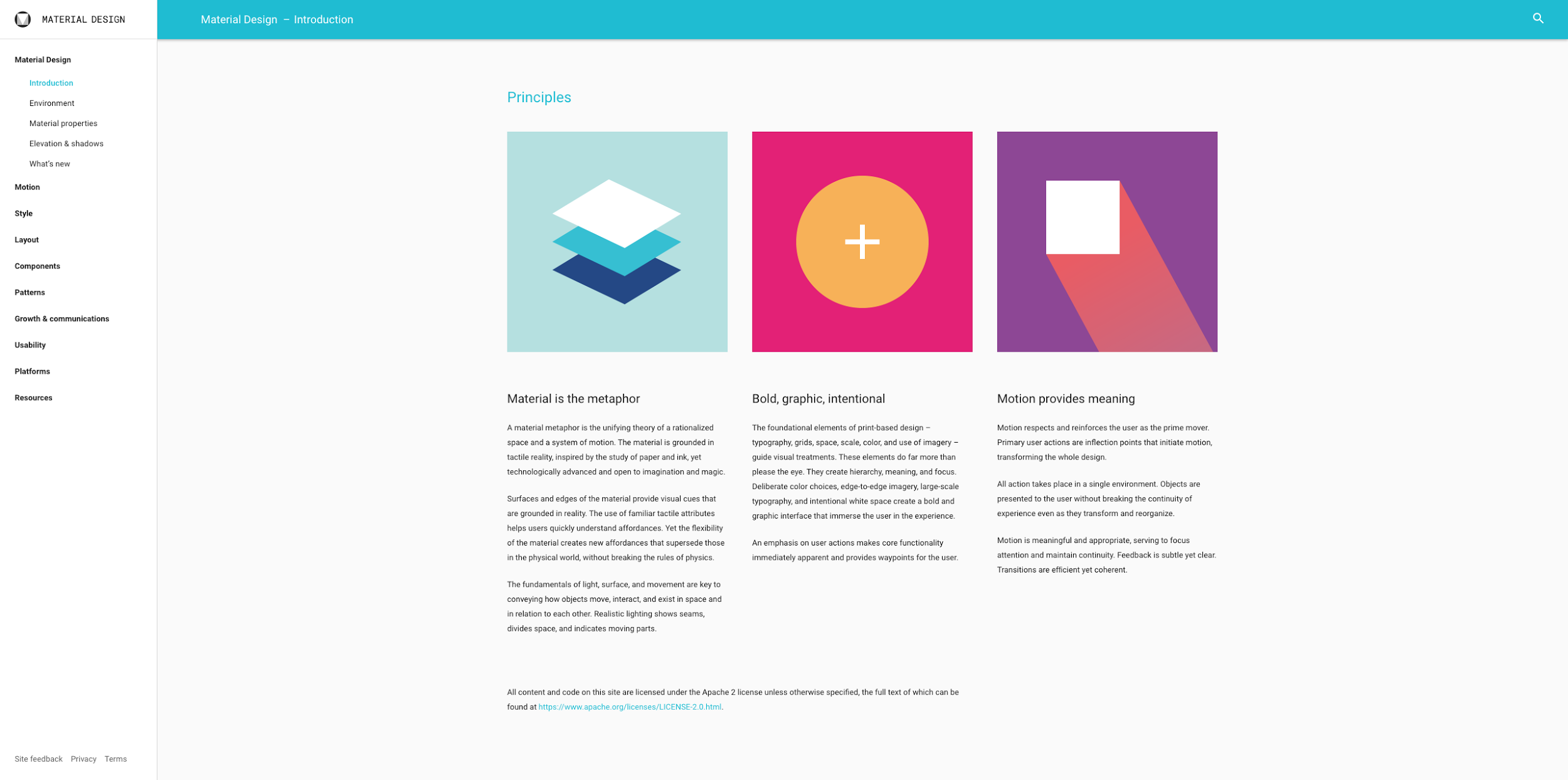 Google material design guidelines website