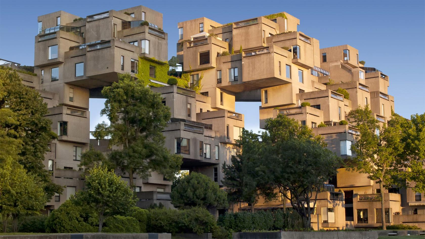 Habitat 67 housing complex in Montreal built in brutalist style
