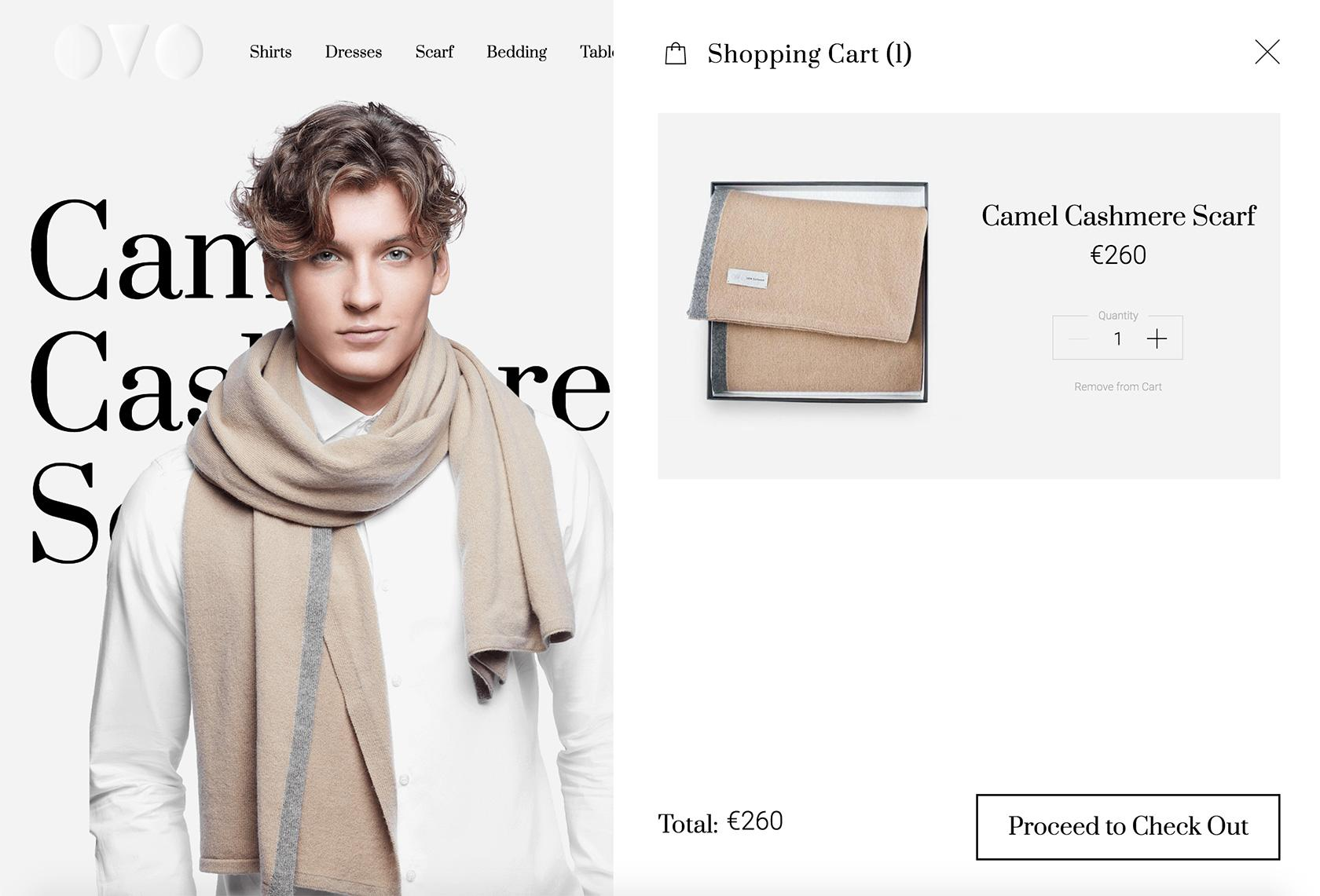 ecommerce shopping cart wireframe