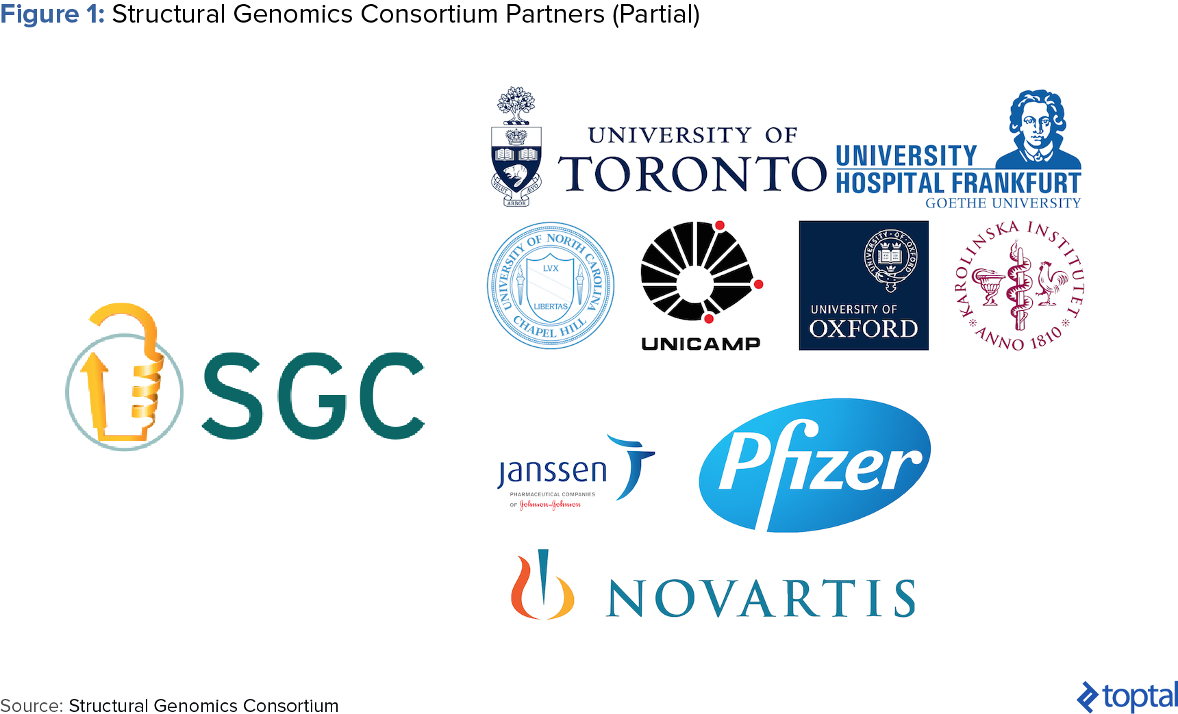 Figure 1: Structural Genomics Consortium Partners (Partial)