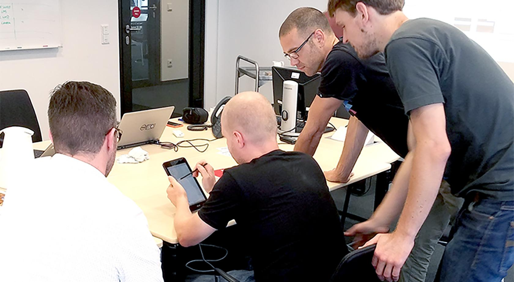 user testing as part of a UX design approach