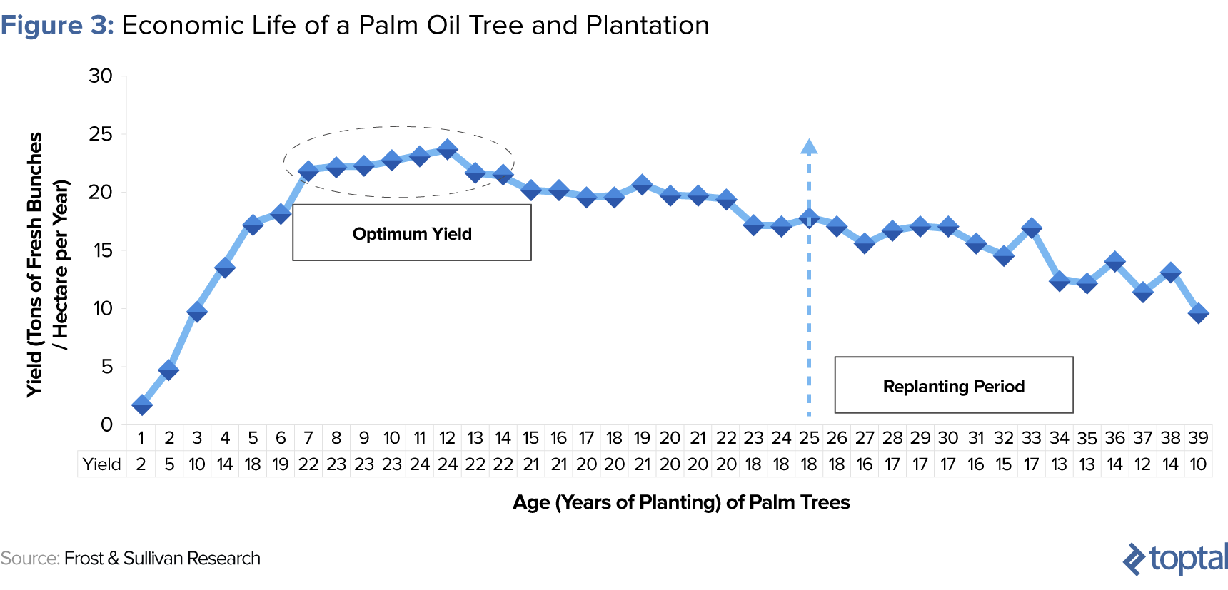 Figure 3: Economic Life of a Palm Oil Tree and Plantation