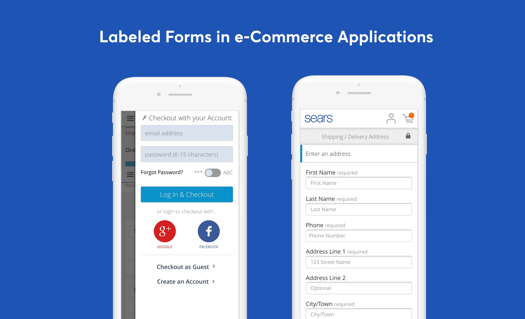 mobile eCommerce ux registration forms