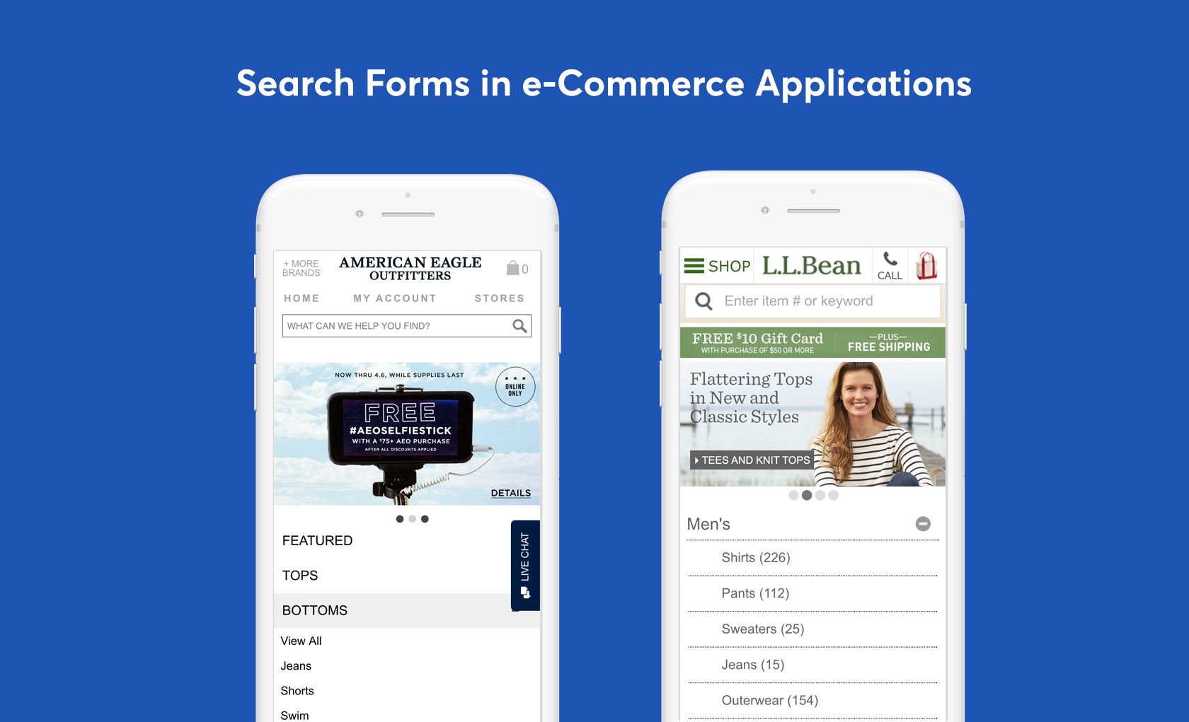 mobile eCommerce search