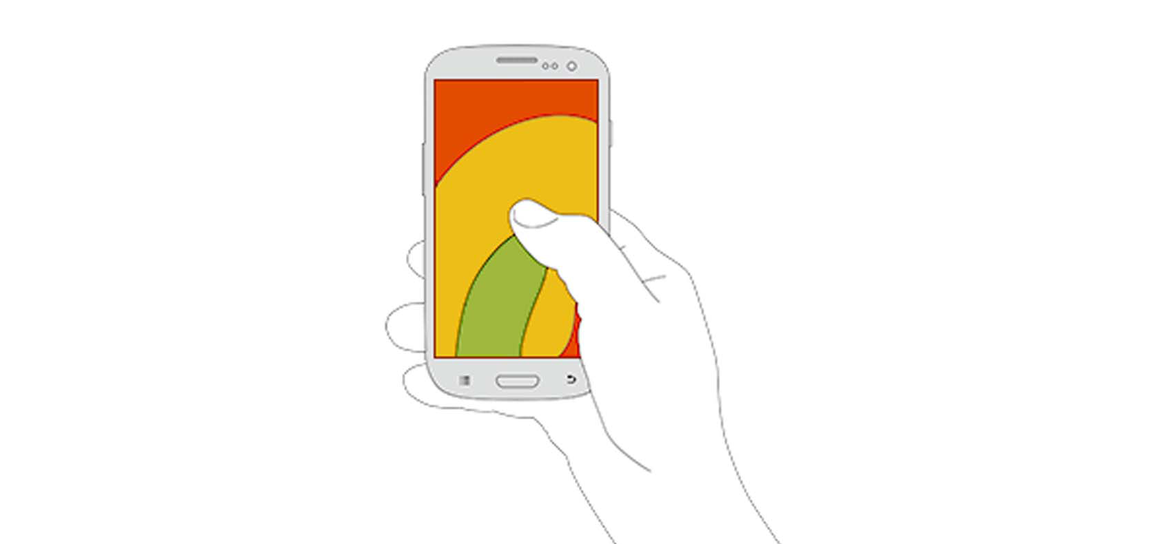 The thumb swipe zone on mobile devices affecting mobile usability