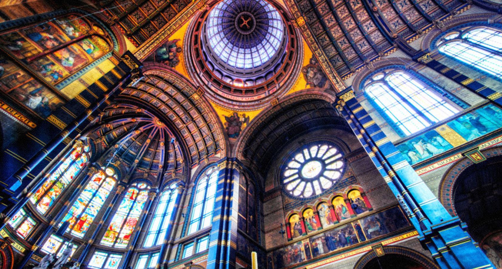 архитектура город страны Базилика Святого Николая Амстердам  № 3712212 бесплатно