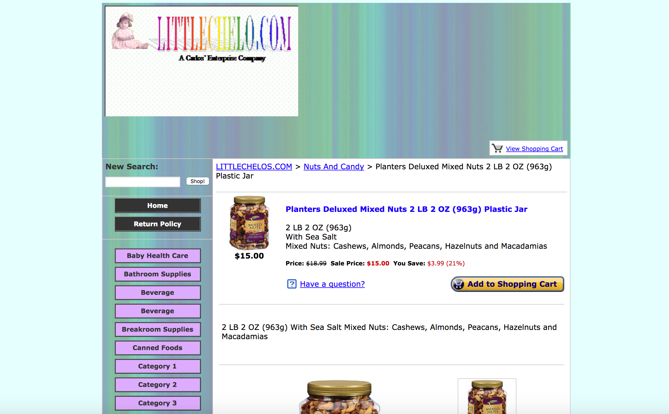 Un sitio de comercio electrónico obsoleto que necesita un sitio web renovar