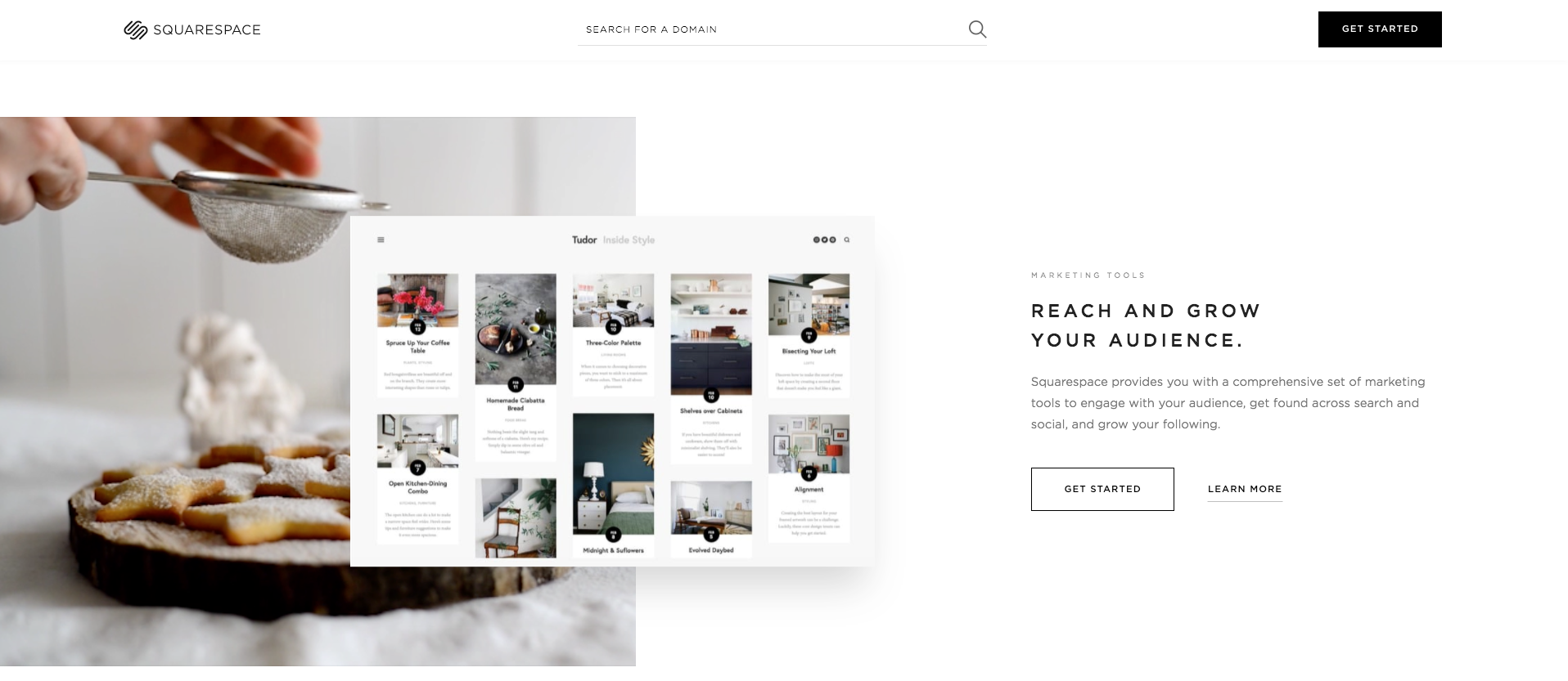 A website builder, Squarespace
