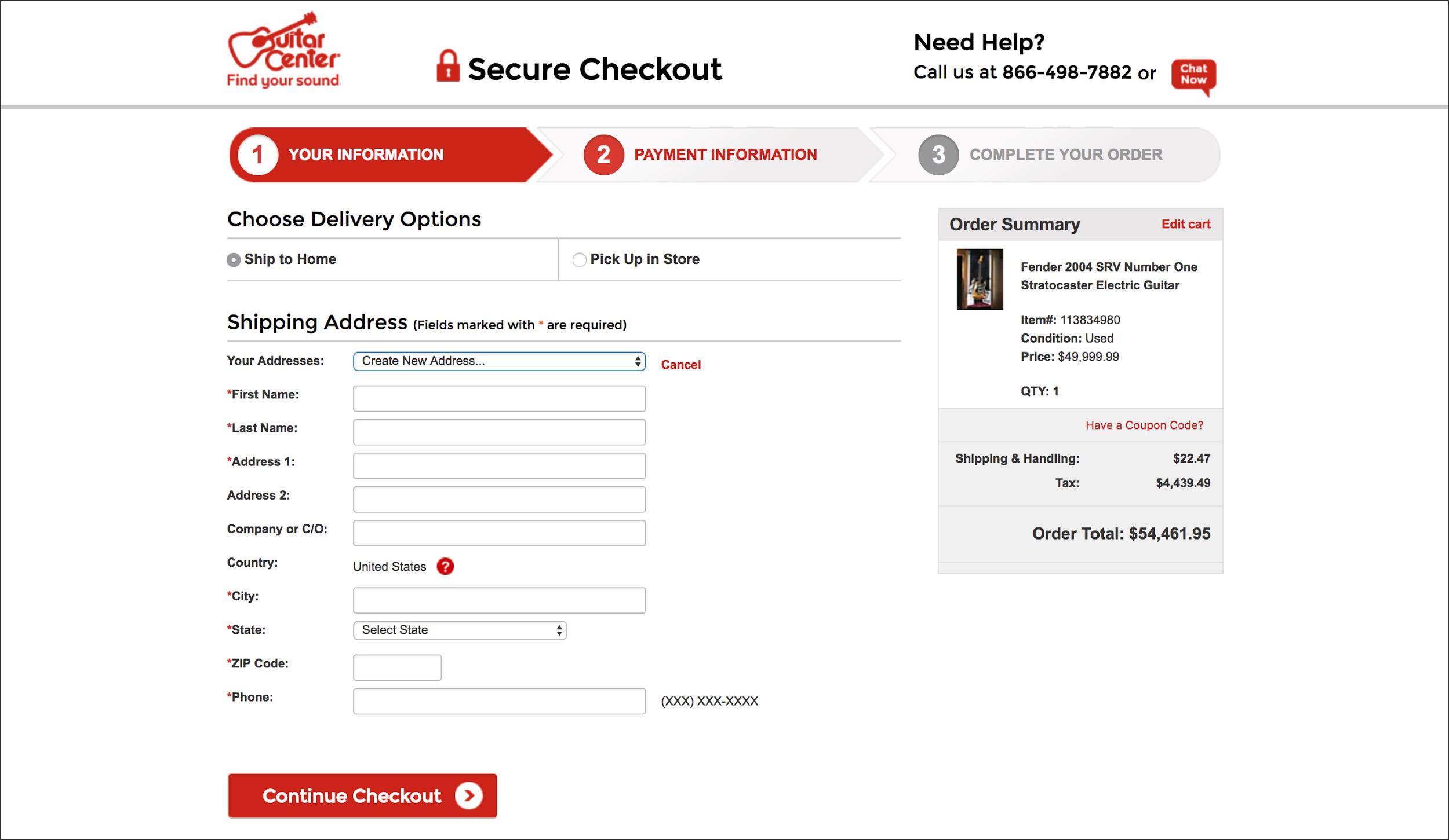 ecommerce checkout anticipatory design