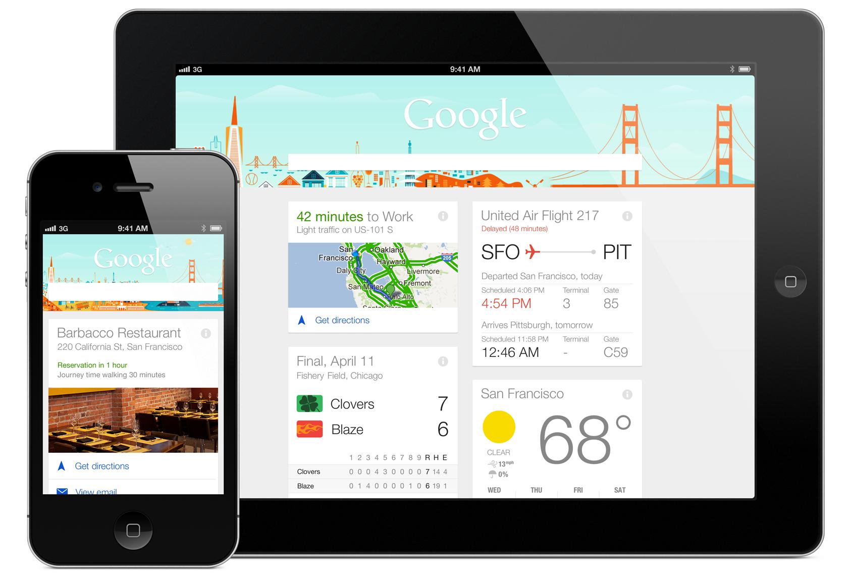 google ahora aplicaciones de diseño anticipadas