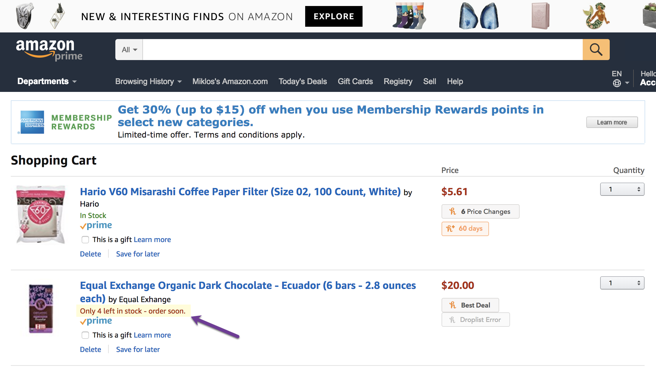 amazon ecommerce scarcity principle in action