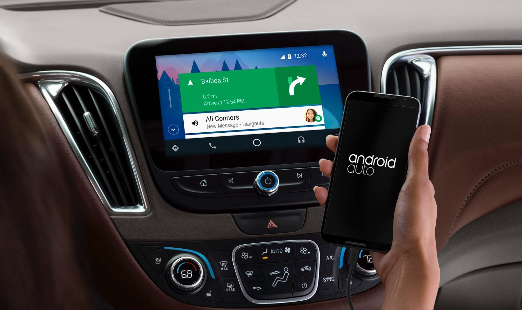 Android Auto voice app and voice user interface