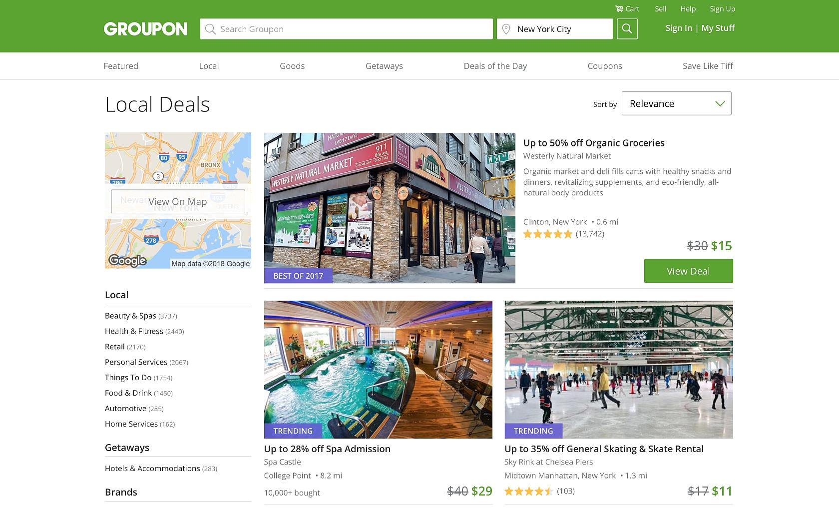 Gamification Design of Groupon's website
