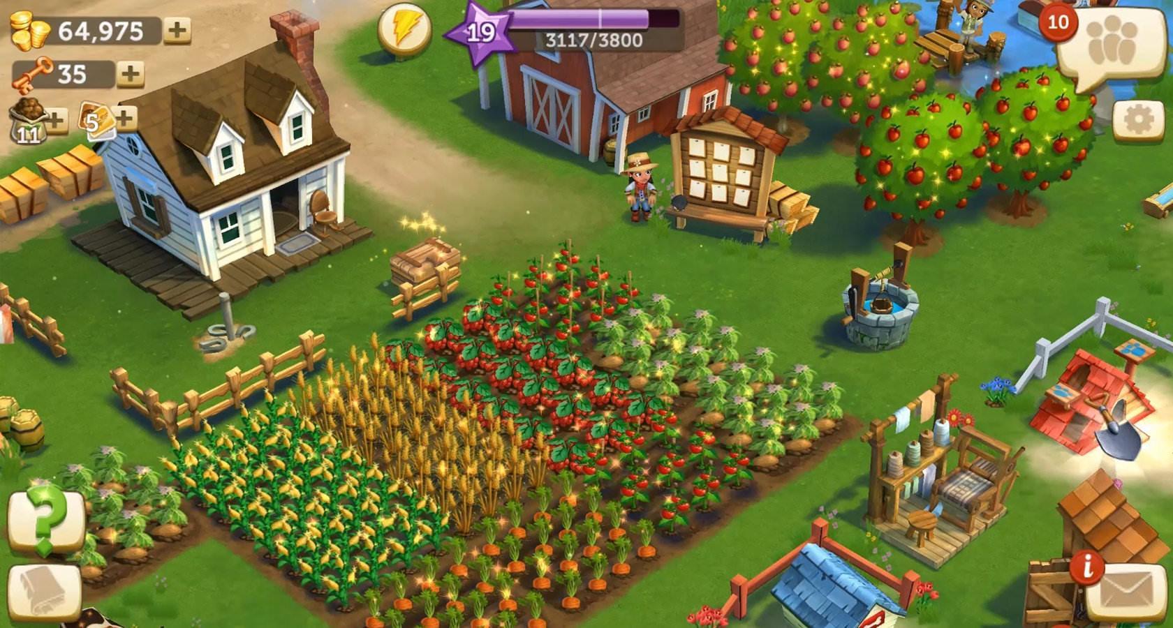 Diseño de gamificación de granjas de Farmville personalizadas