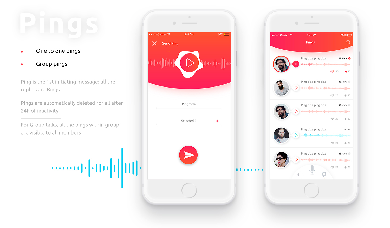 Diseño de la aplicación móvil PingBing