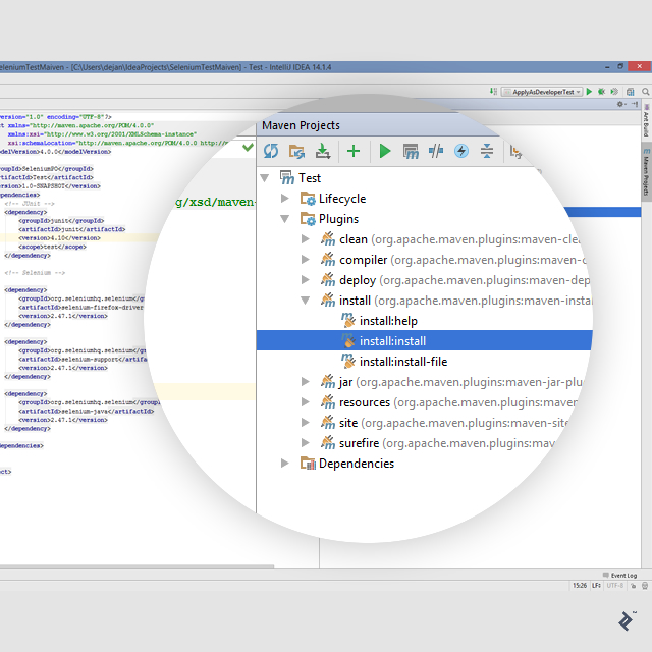 selenium testing tutorial IDE screenshot