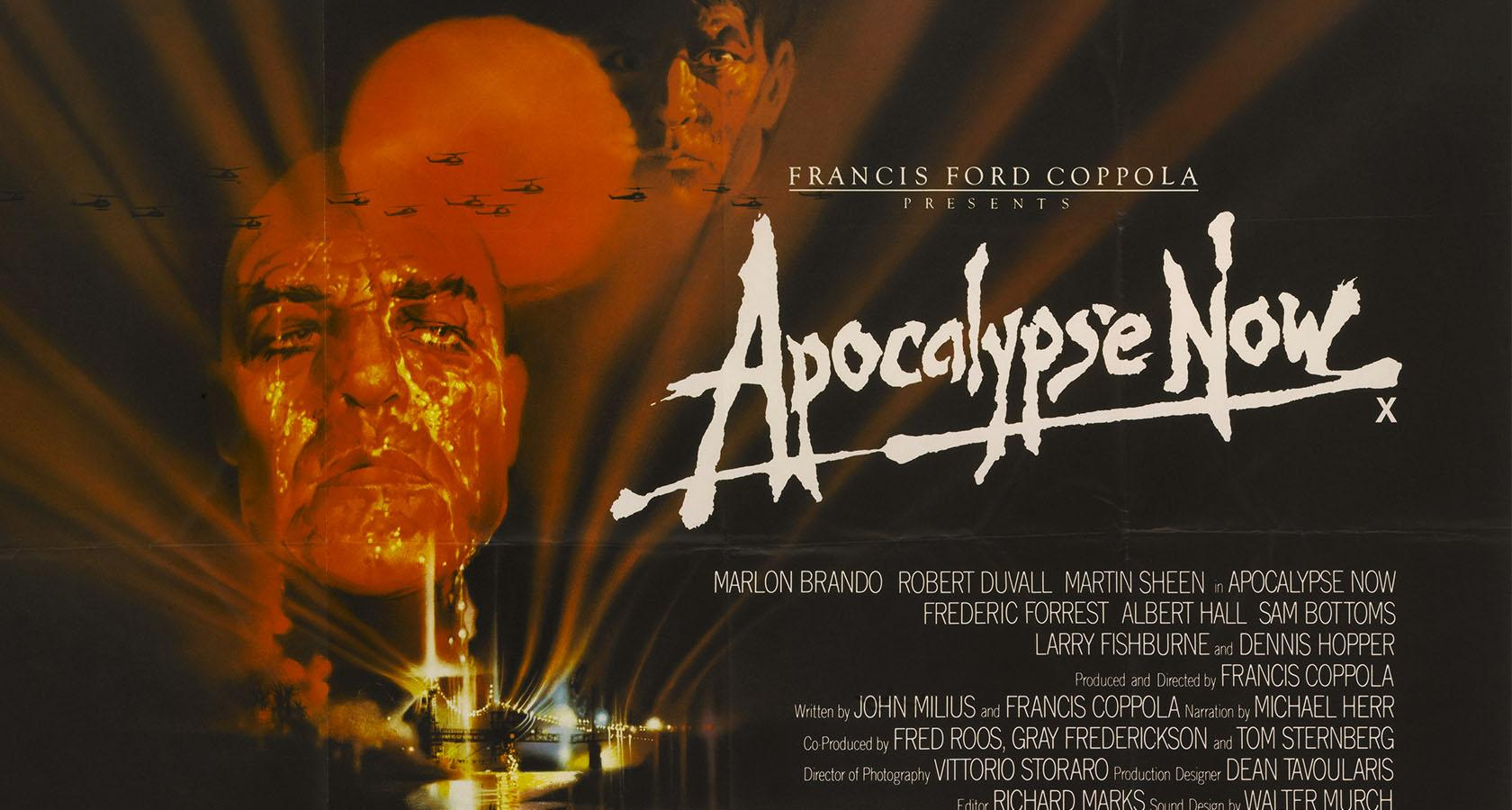 apocalypse now movie poster using hand lettering