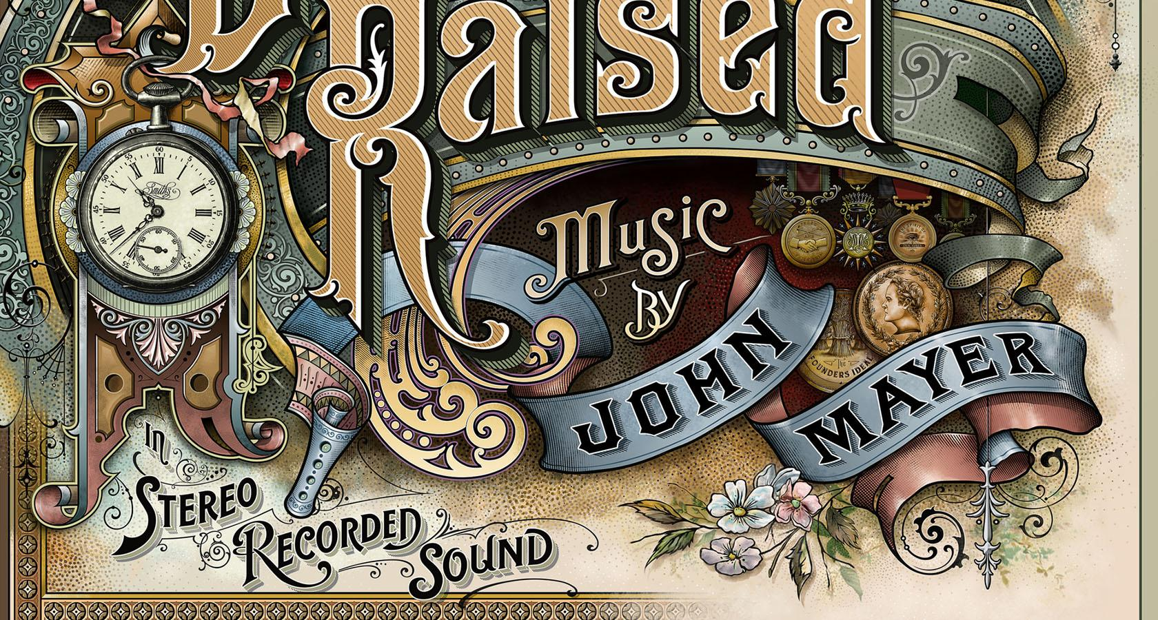 david smith - lettering en el album cover de john mayer