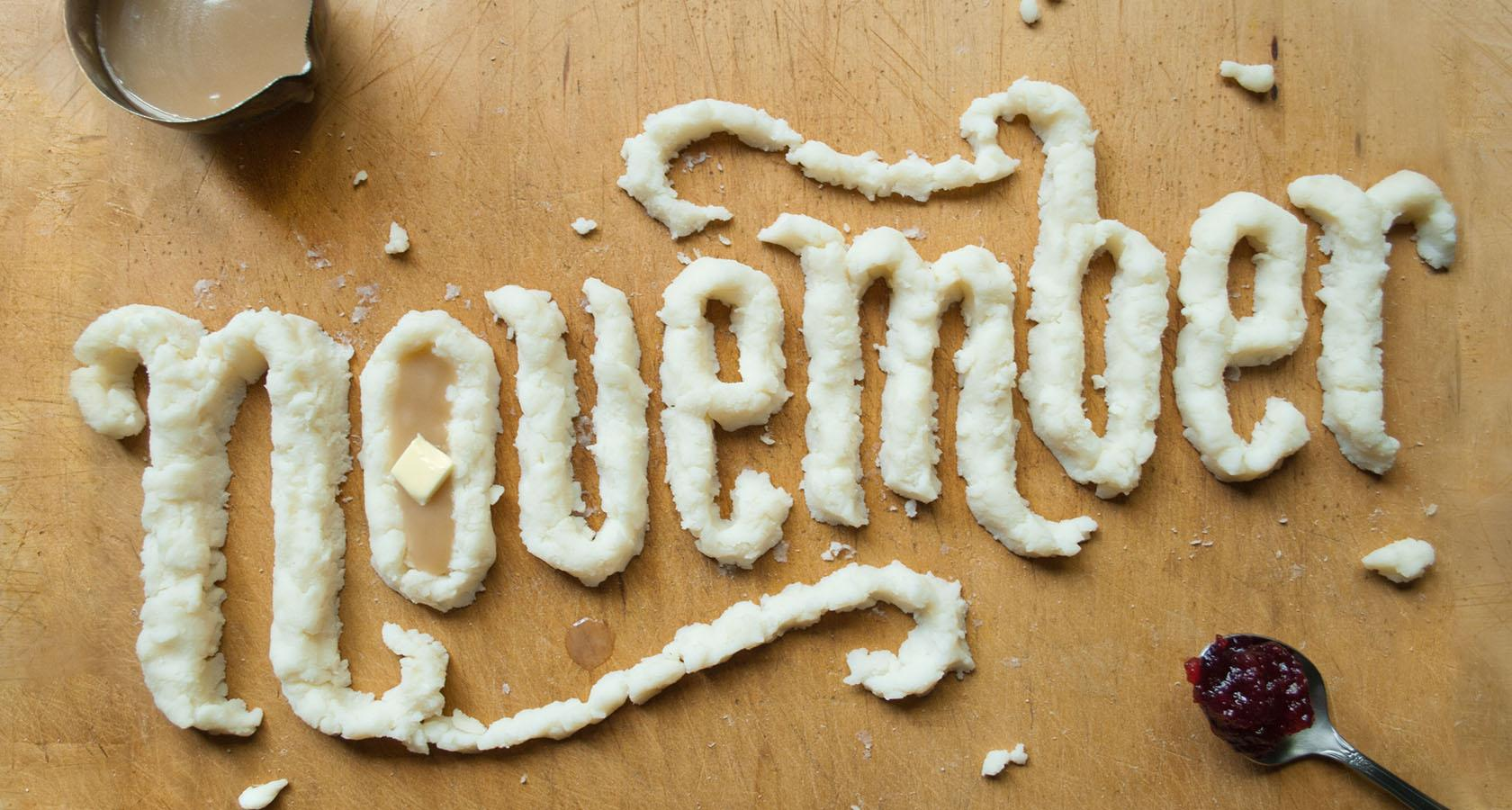danielle evans food lettering