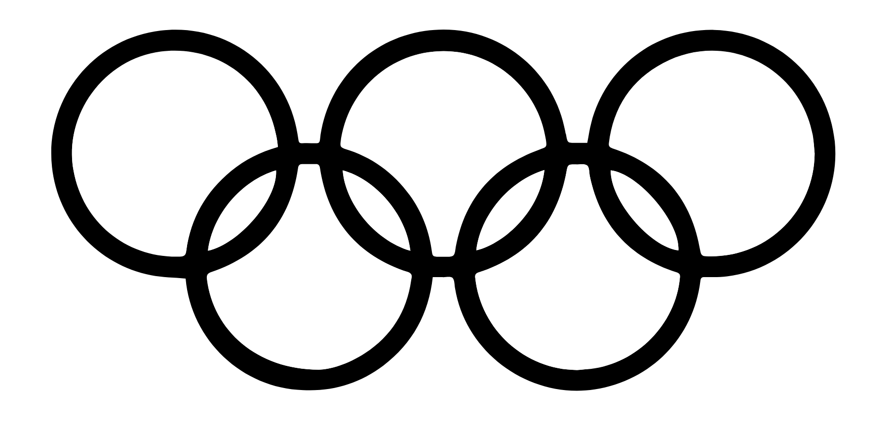 another one of the gestalt design principles, the principle of pragnanz is illustrated with the olympics logo