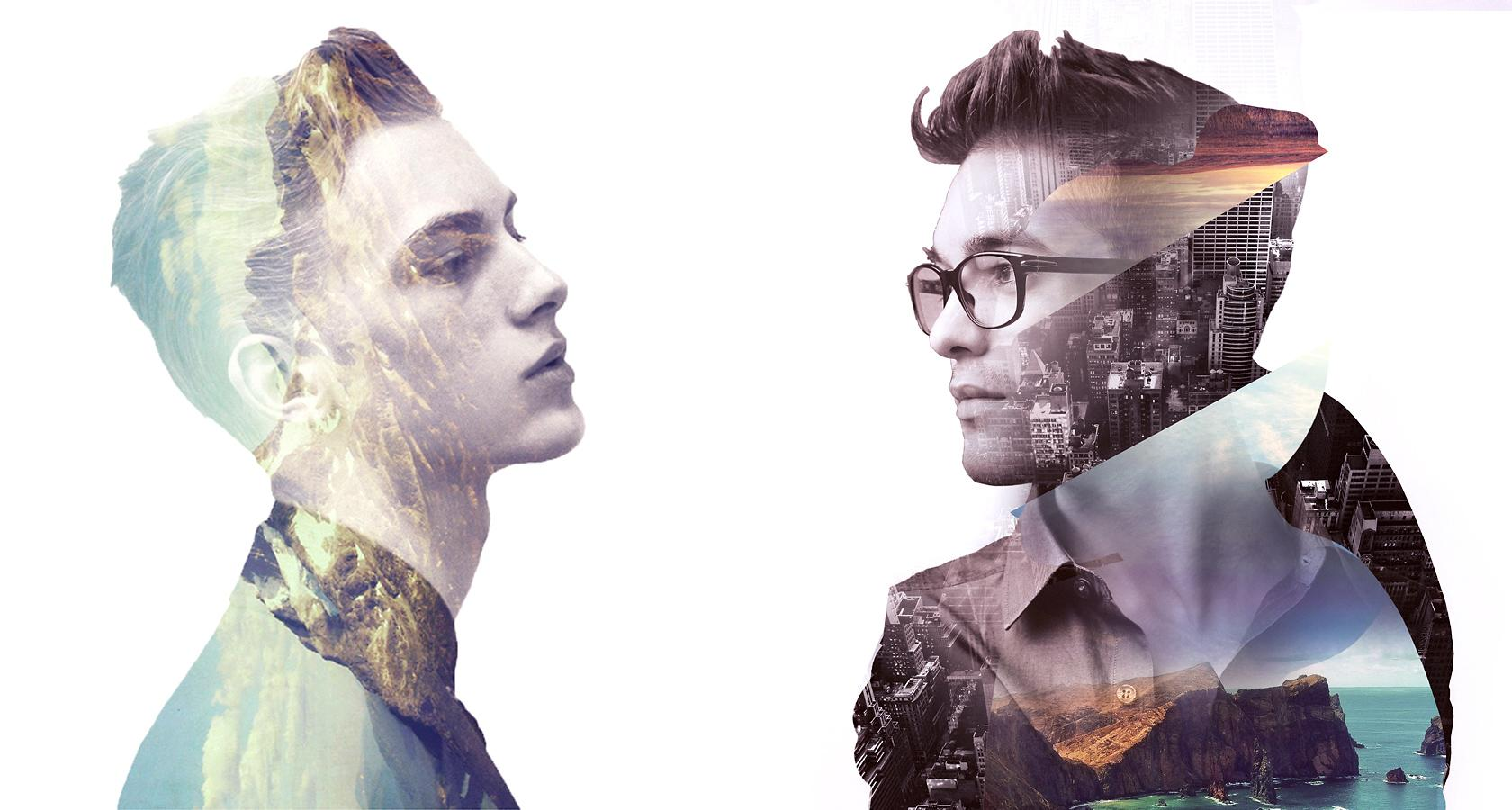 double exposure photoshop effect a hot graphic design trend