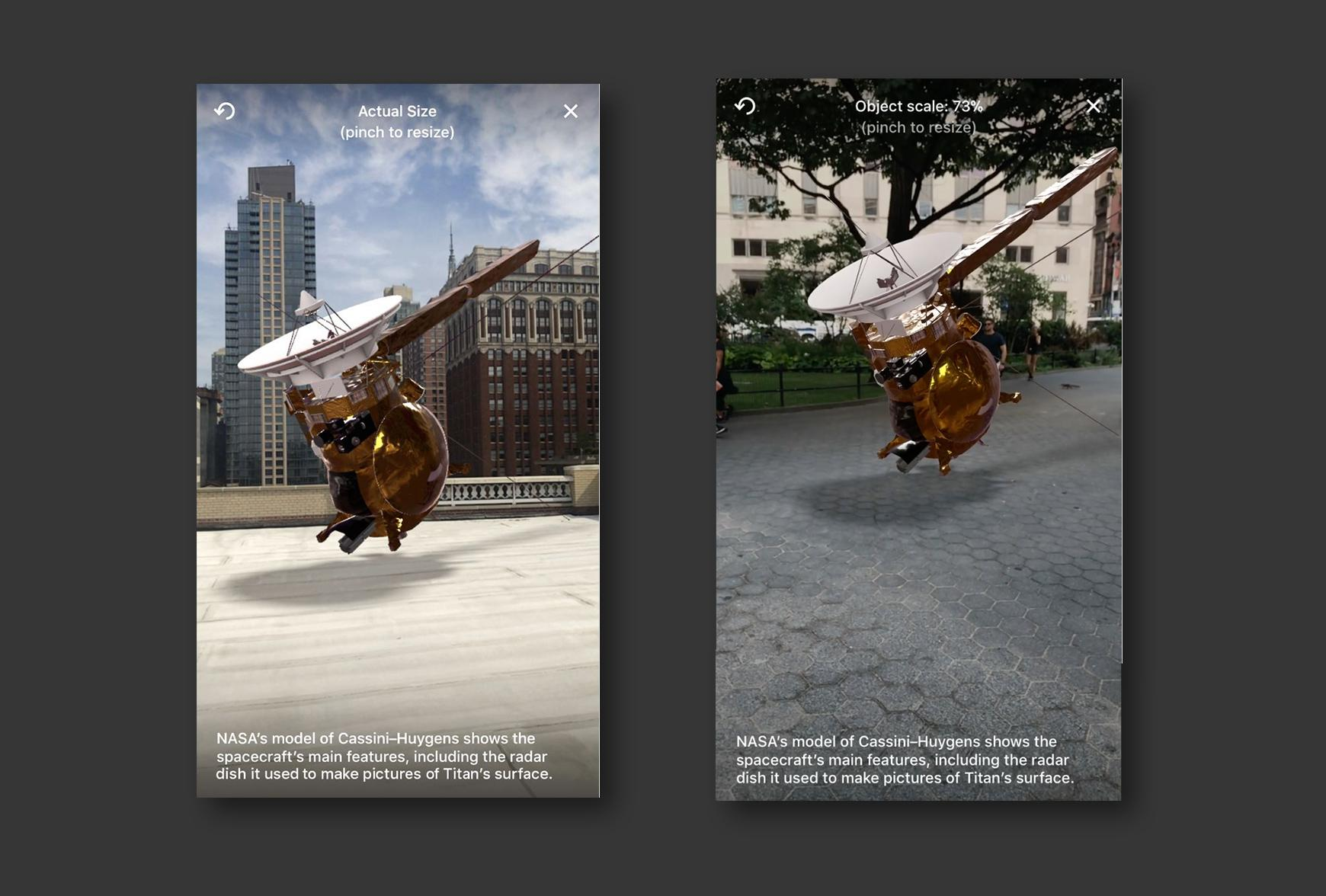 dynamic app design: AR application in news content