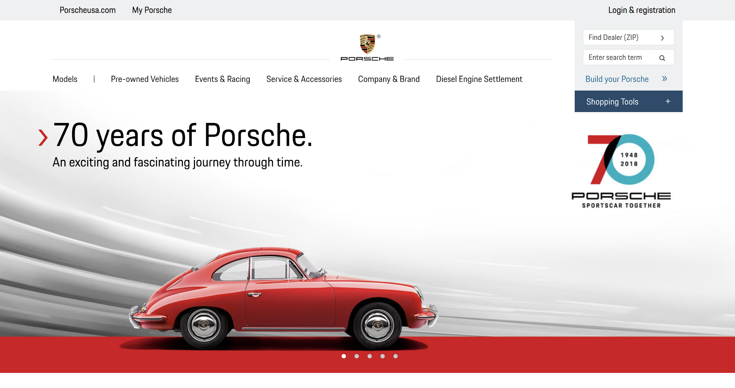 porsche homepage emotional branding strategy