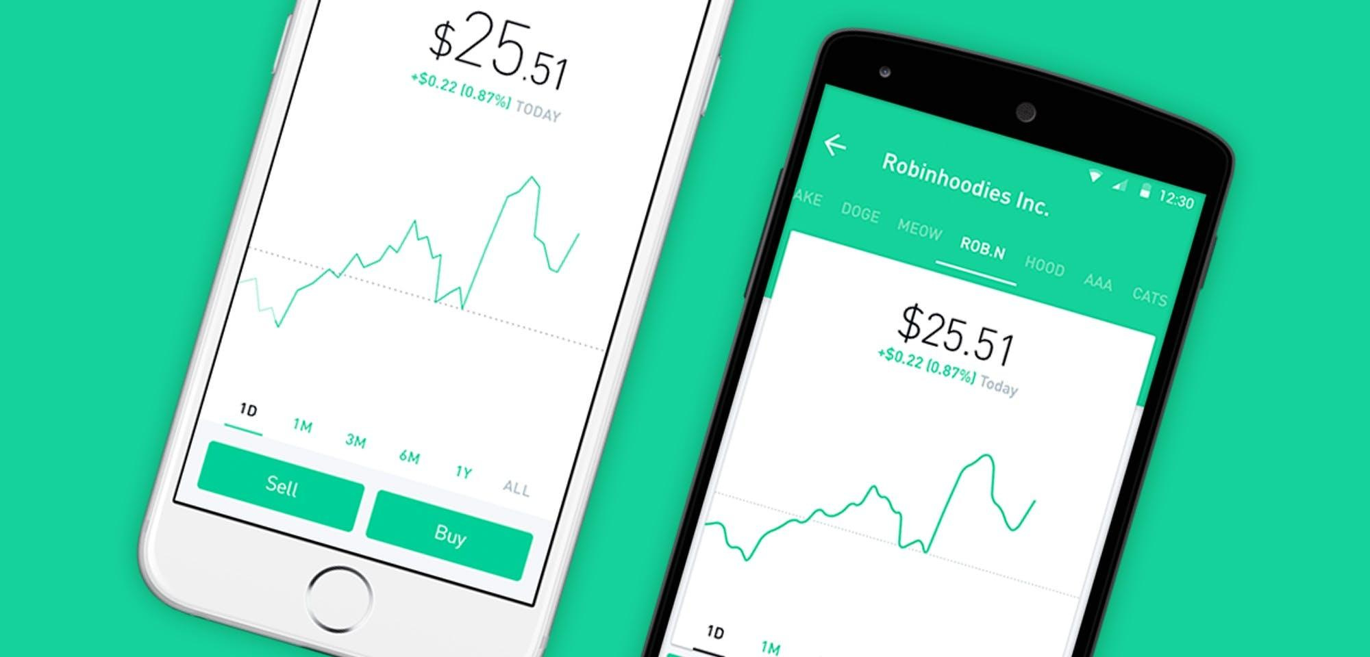 robinhood ui brand design
