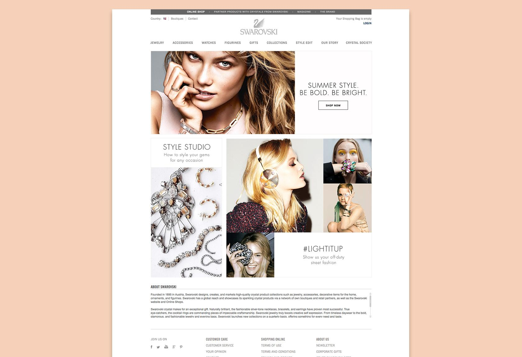 Swarovski website design