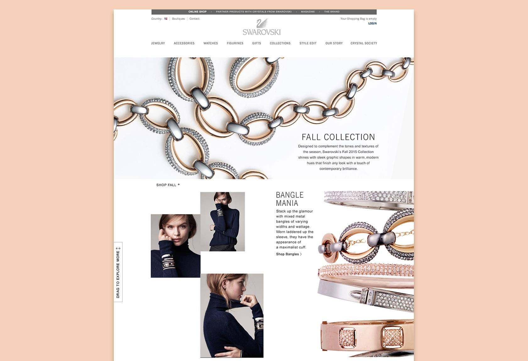 Swarovski eCommerce website design