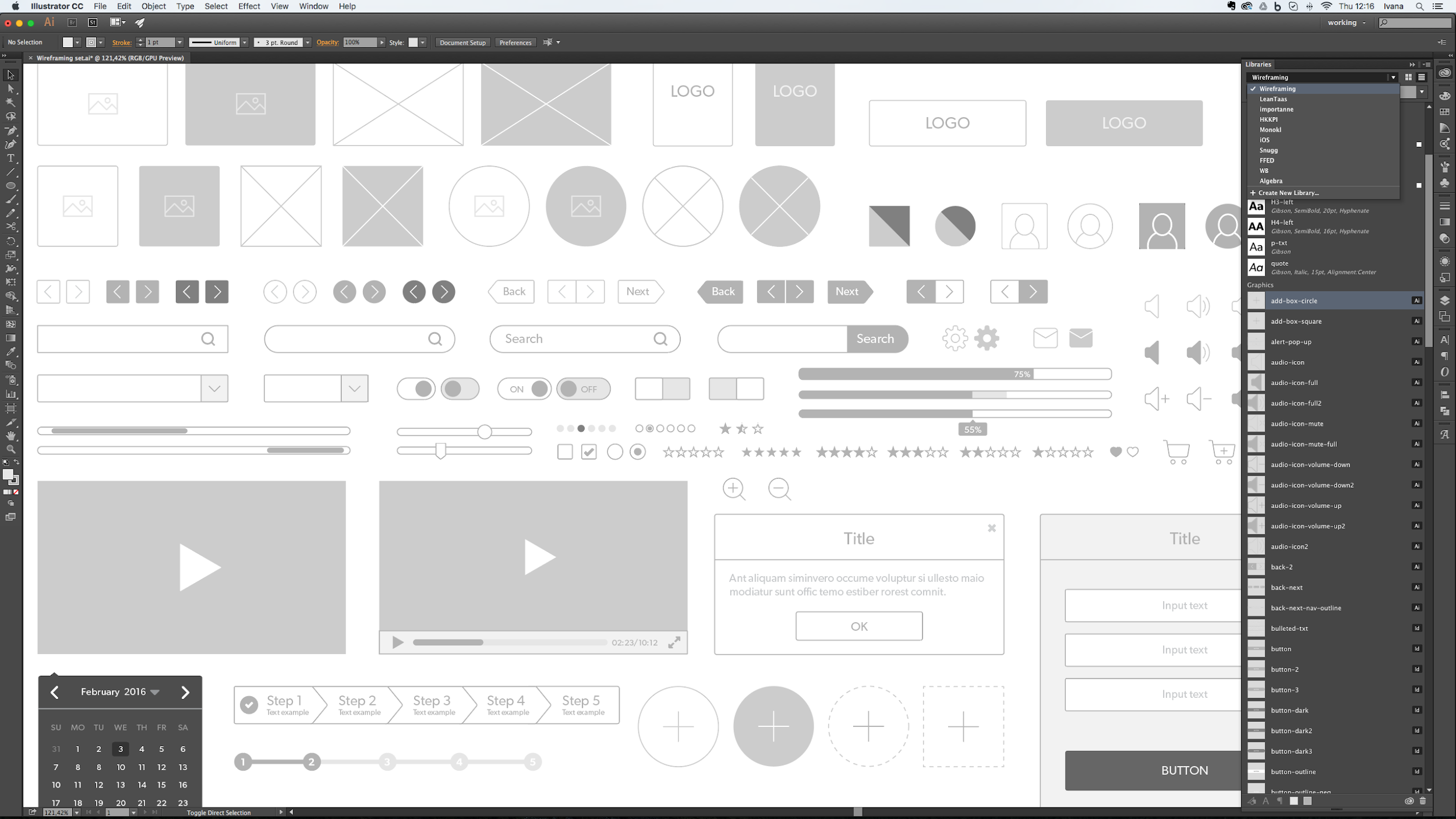 Adobe Illustrator assets in libraries