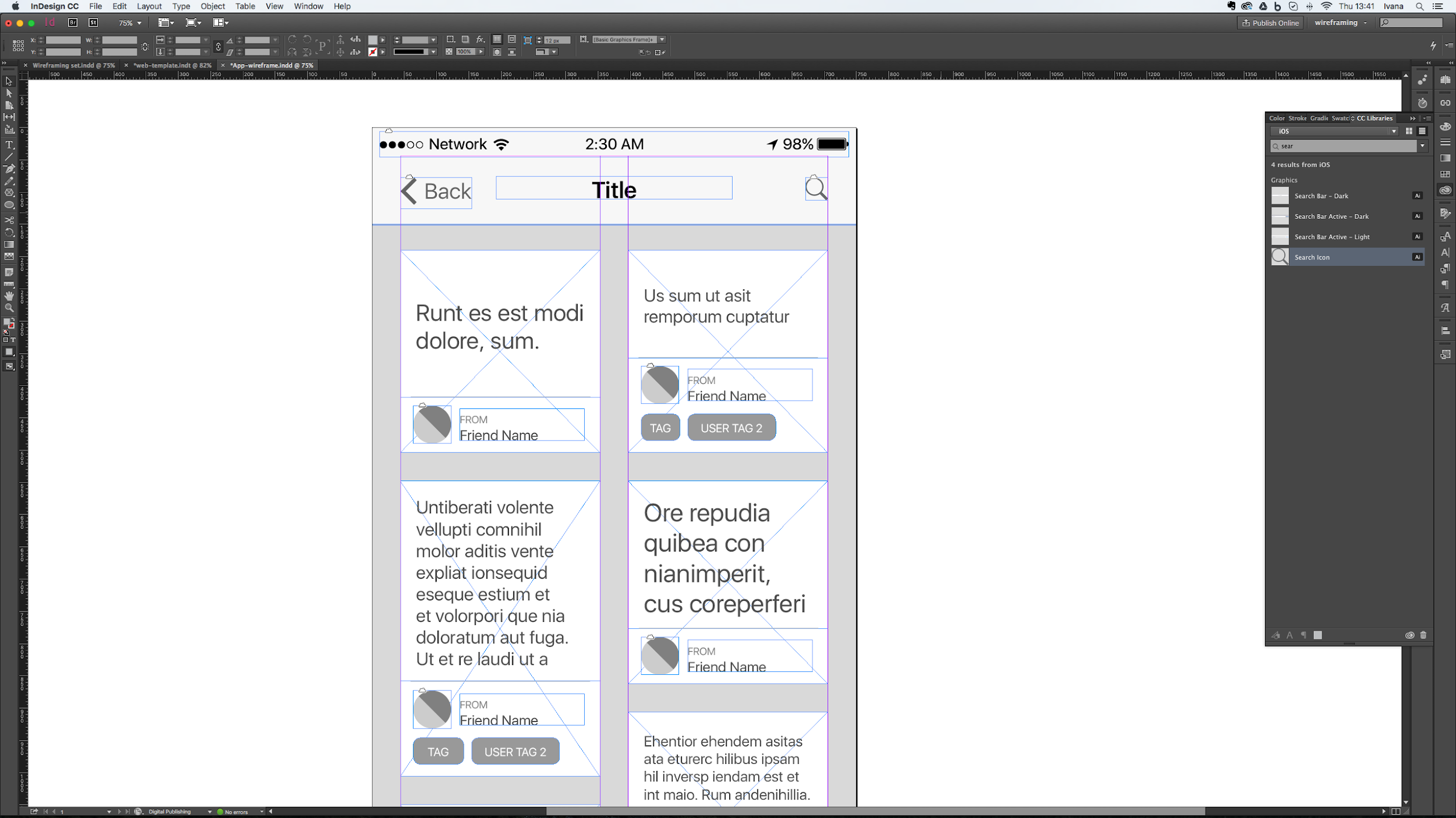 Using masters in Adobe InDesign