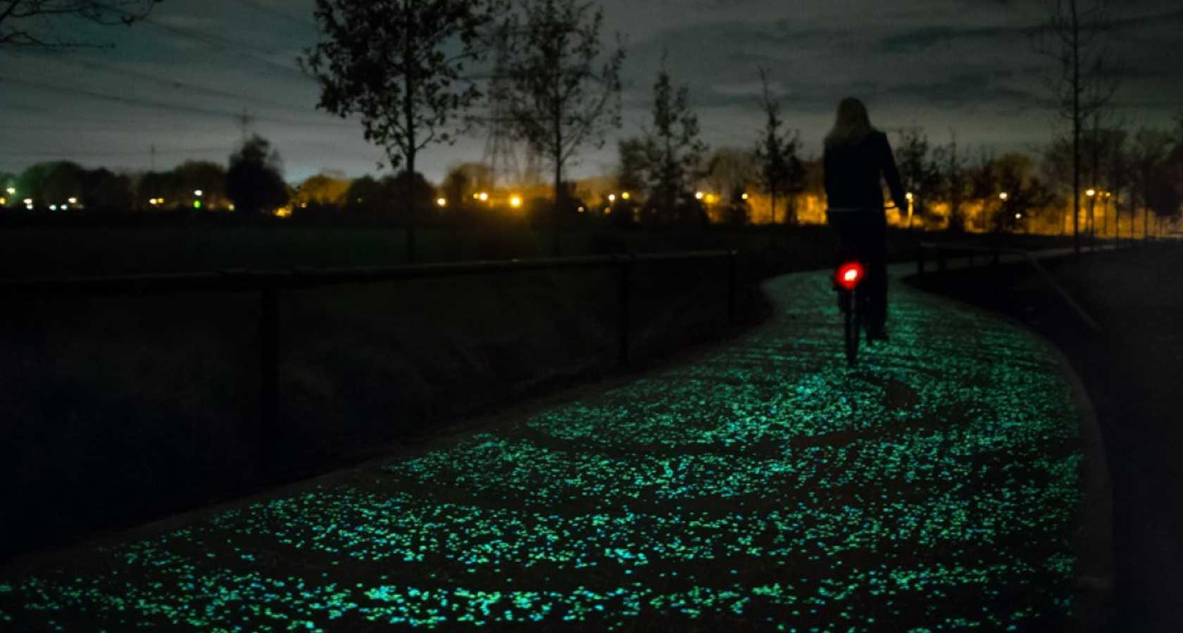 What is art? Van Gogh path glowing art installation