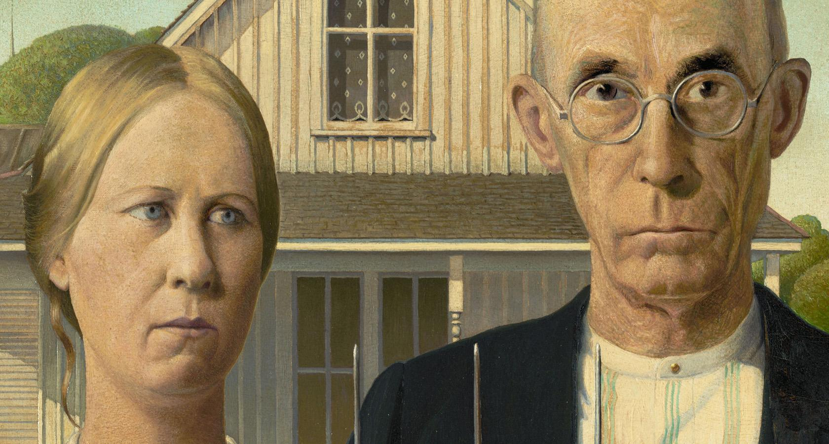 What is art? The American Gothic painting represents principles of art.
