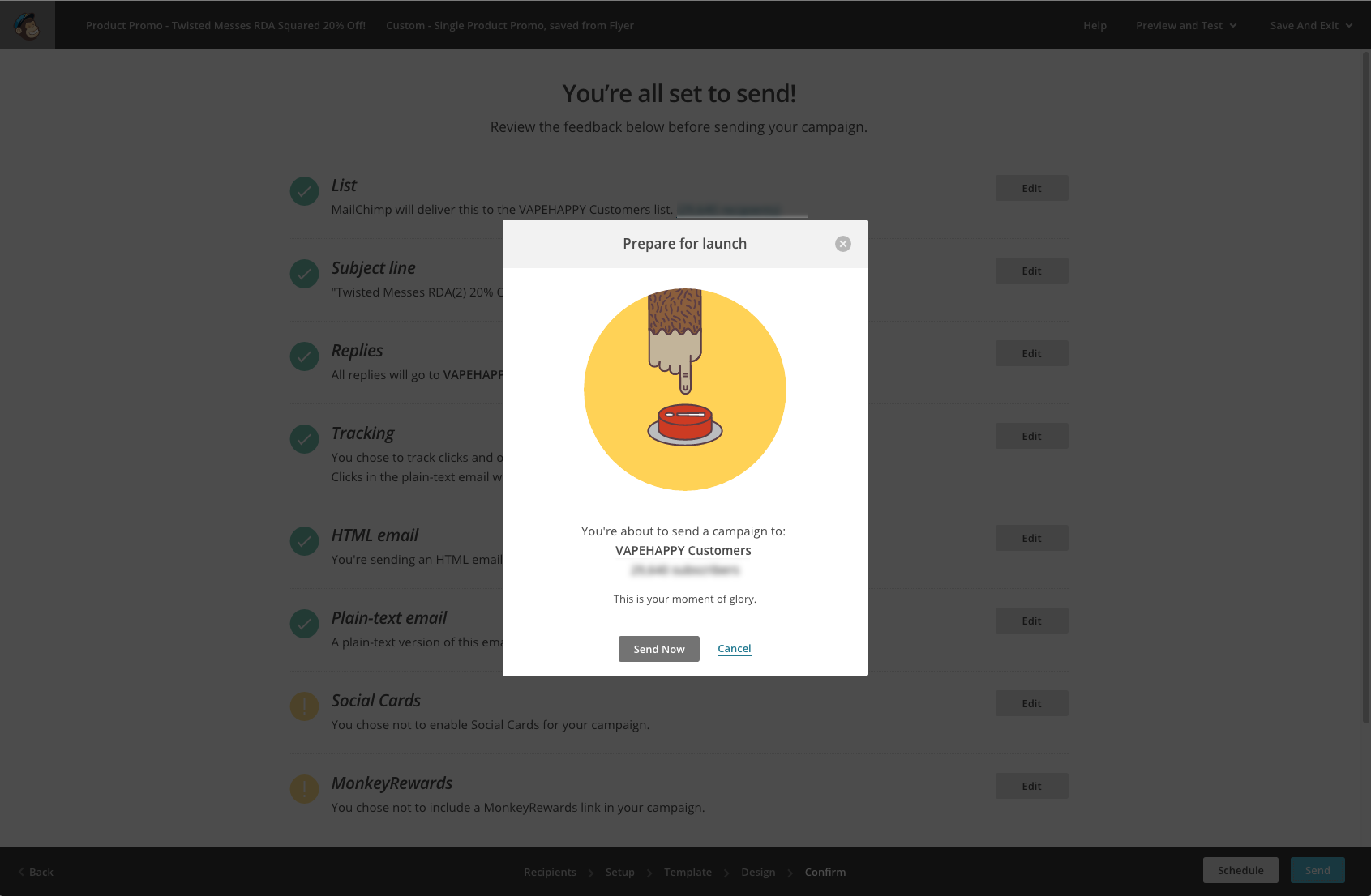 Mailchimp has mastered useful but delightful micro-interactions
