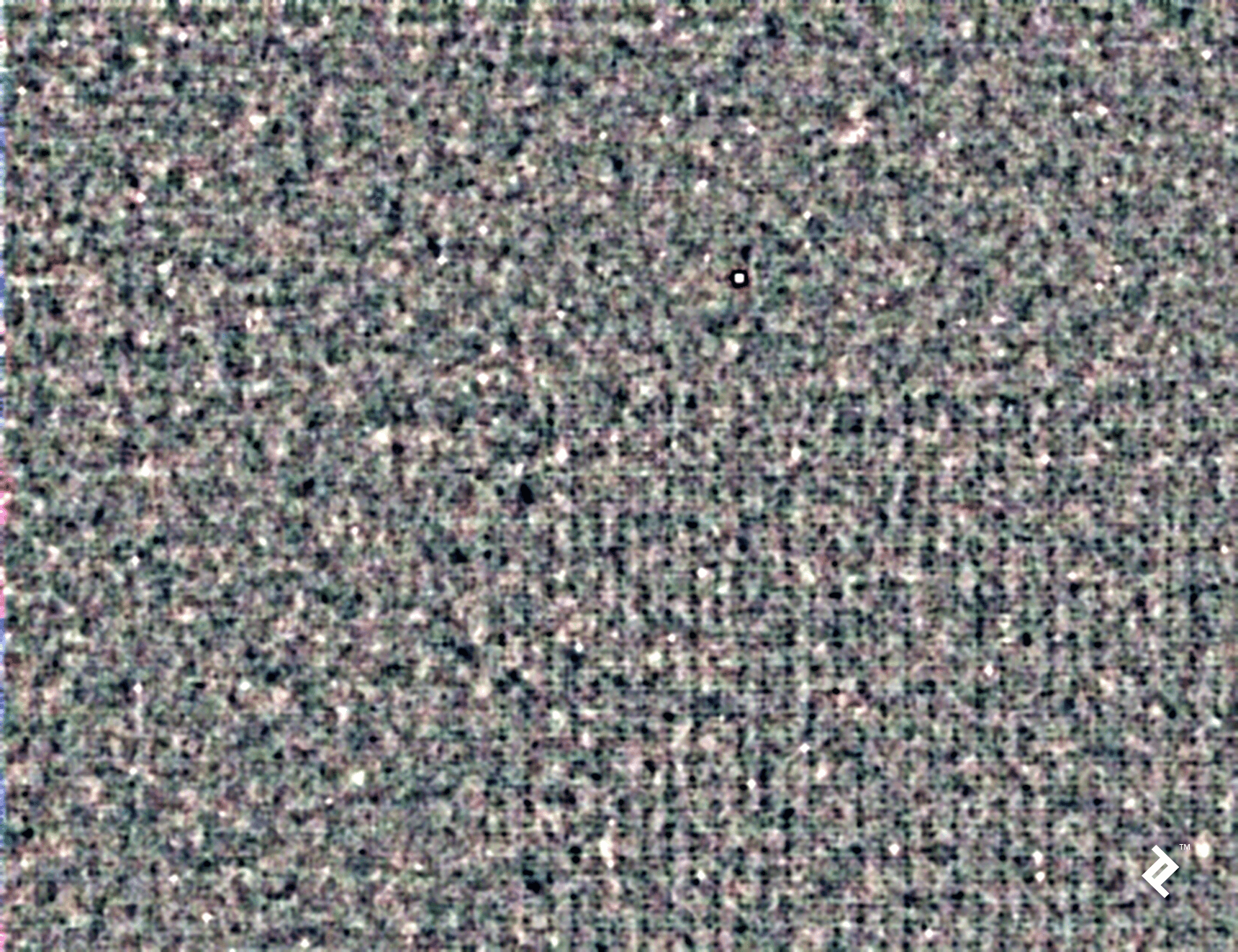 The pattern noise for the portion of the frame displayed in the previous image
