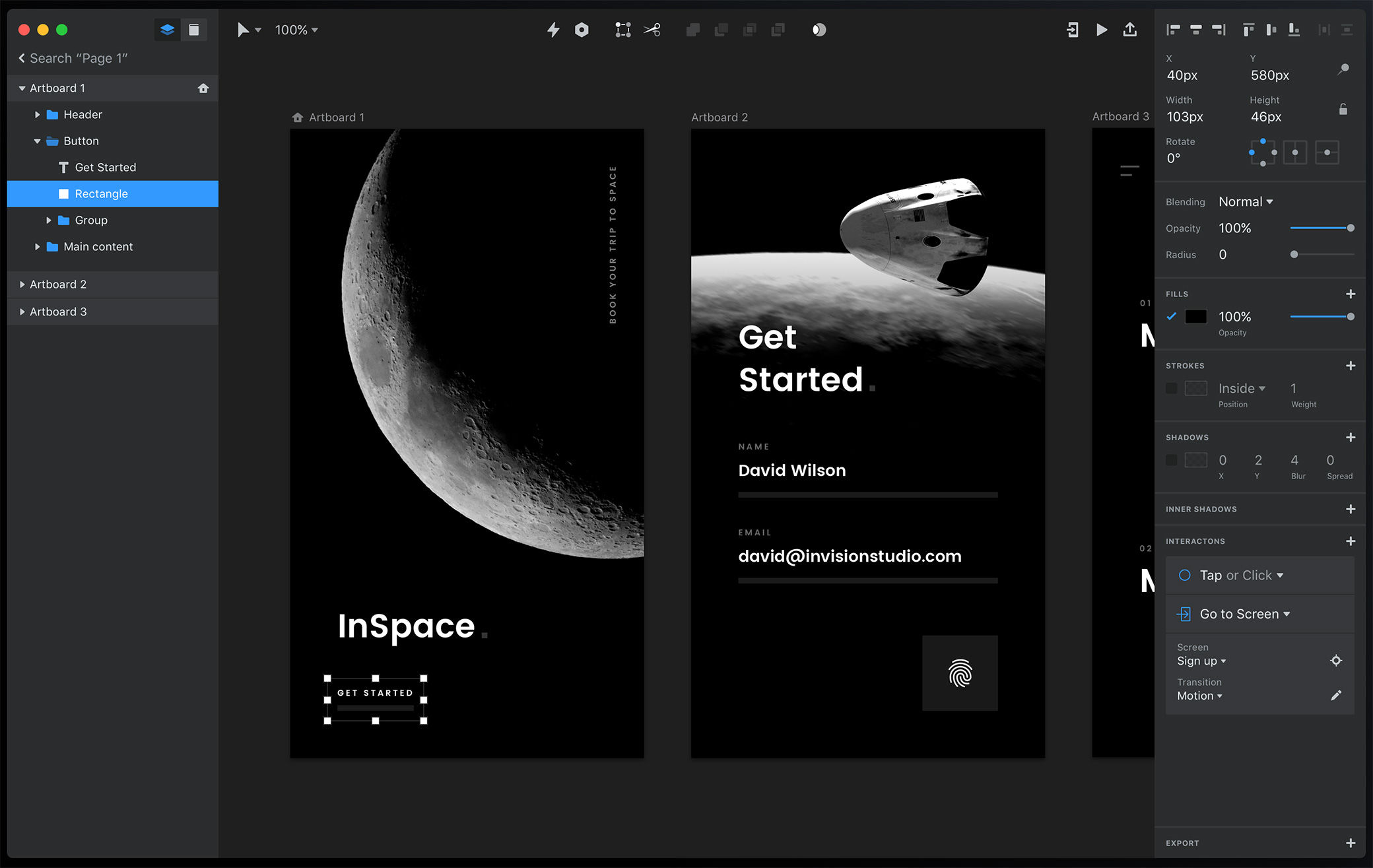 InVision Studio, a free UI design tool and a great addition to the design process